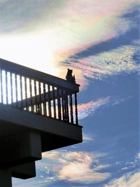 彩雲とシーサー(1)
