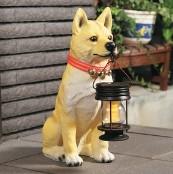 ソーラーライト付き柴犬(ポチ)