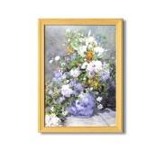 ルノワール名画額(桧)「花瓶の花」
