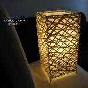 テーブルランプ 竹製 スクエア型 アジアンテイスト