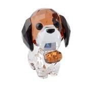 SWAROVSKI(スワロフスキー) キュートな子犬シリーズ セントバーナード 「バーニー」 クリスタル フィギュア