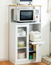 キッチンボード/キッチン収納庫 幅60cm×奥行39.5cm スライドテーブル