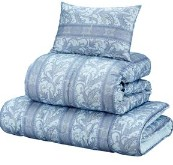毛掛け布団セット/寝具セット 【シングルサイズ/3点セット】 ブルー