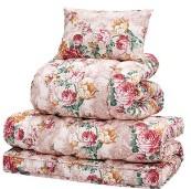 極厚敷布団付き寝具セット 【ダブルサイズ 4点セット/ピンク】 掛け布団・枕セット