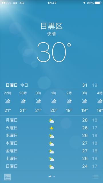 iPhone天気アプリ2017年5月21日 by占いとか魔術とか所蔵画像