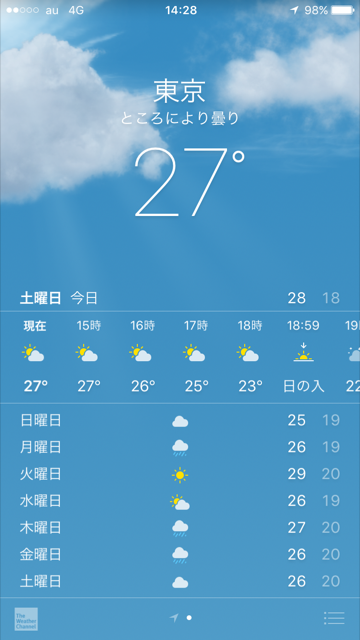 2017年6月17日iPhone天気アプリ by占いとか魔術とか所蔵画像