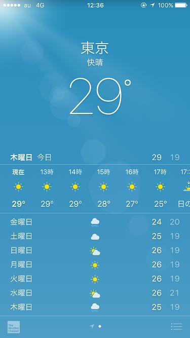 iPhone天気アプリ@2017年9月20日 by占いとか魔術とか所蔵画像