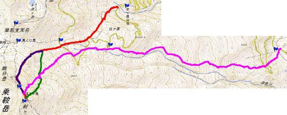 乗鞍岳GPS