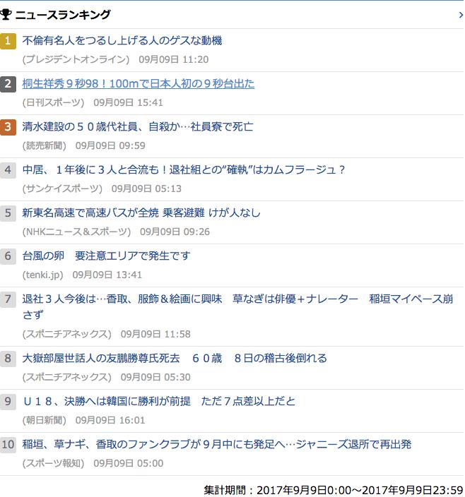 2017-09-09_土_gooランキング