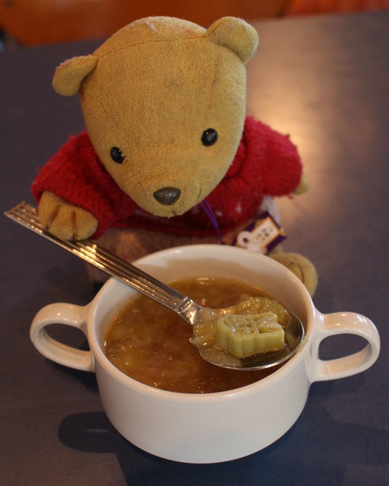 ホライズンベイ・レストラン パスタ入りベジタブルスープを 160909
