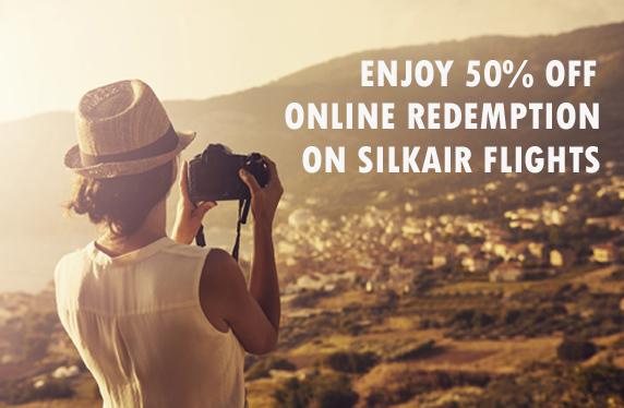 シンガポール航空 シクルクエアーを使用した特典航空券がクリスフライヤー50%割引