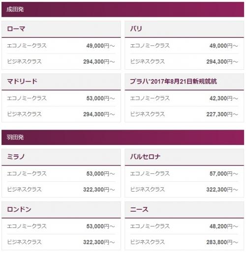 カタール航空 Airline of the Year受賞感謝祭。最大50OFF
