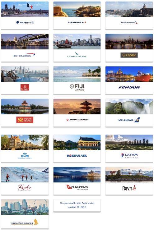 アラスカ航空の航空券とシンガポール航空が提携航空会社に