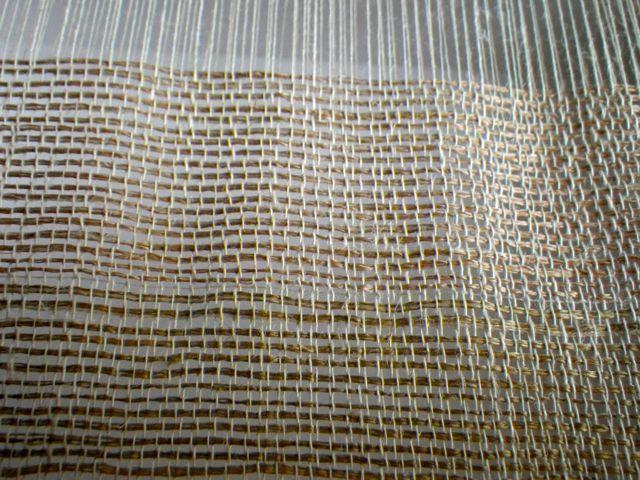 絹の色・織り途中