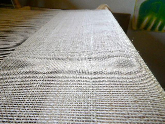 葛・織りの表面