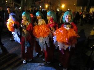 ニューヨークのハロウイーンでの踊り