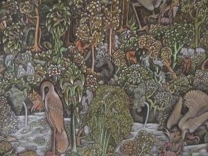バリの画家の作品