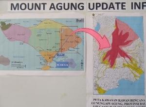 噴火警報の張り紙