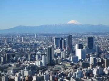 クラブラウンジからの富士山