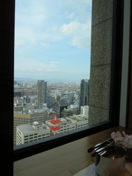 28階クラブインターコンチネンタル 専用ラウンジからの景観