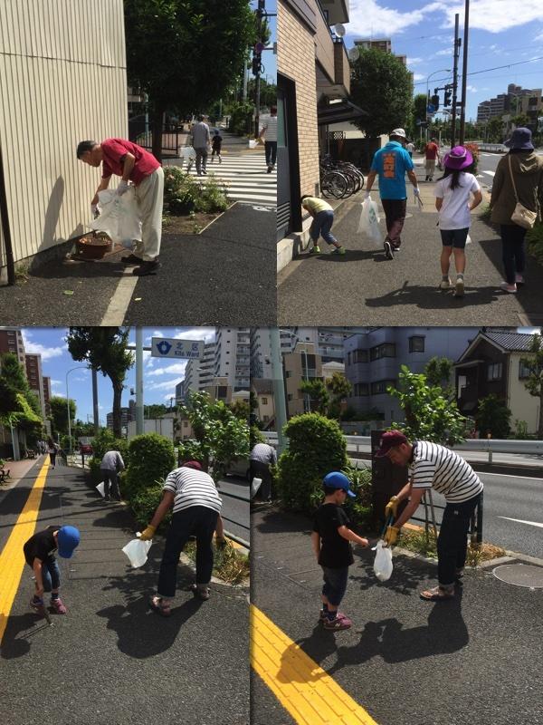 2017年6月4日(日)月例町会クリーン活動&管内一斉清掃活動