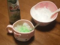 メロン味のかき氷