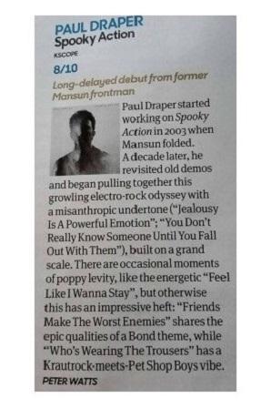 Paul Draper Uncut album review