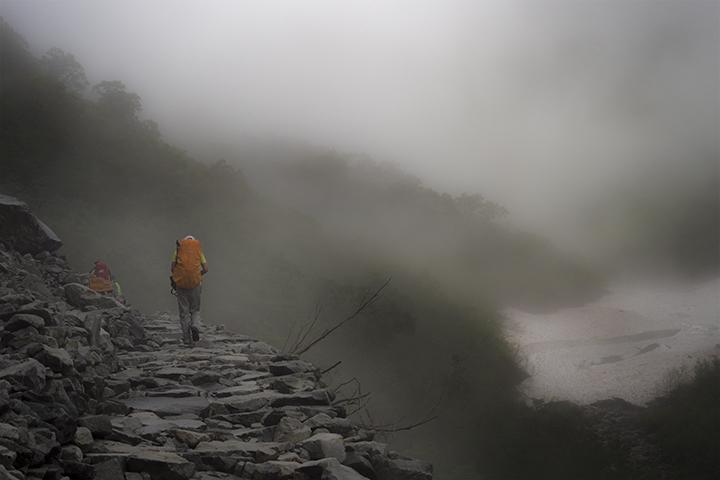 170728 霧の雪渓