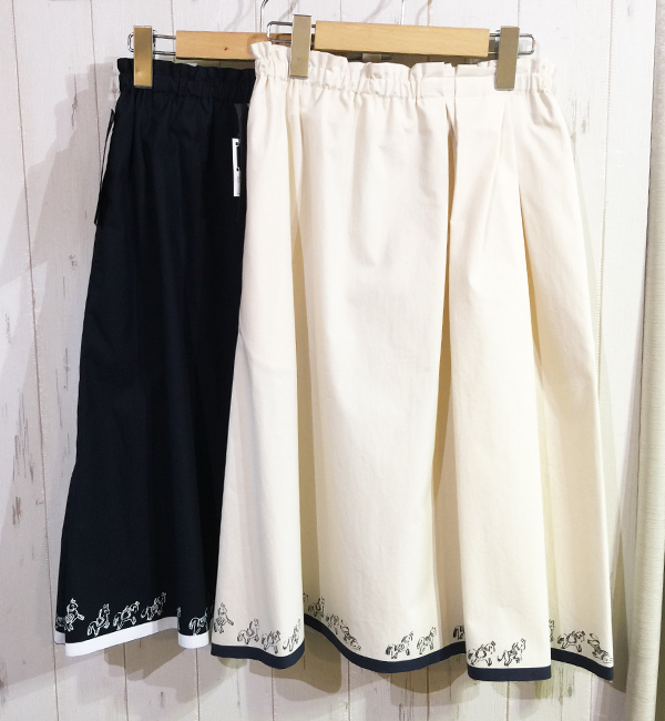 ヨシコンドーのボーダープリントスカート