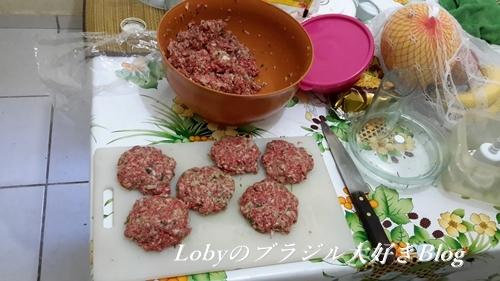 ハンバーグ作り1