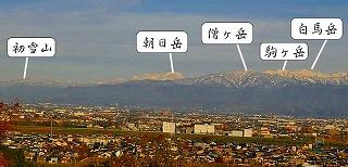 立山連邦の左端