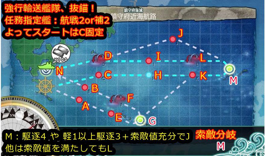 艦これ,攻略,1-6,MAP,自作,航戦2バージョン