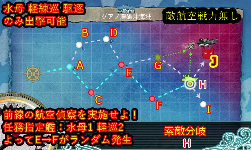 艦これ,攻略,6-3,MAP,自作,軽巡2バージョン