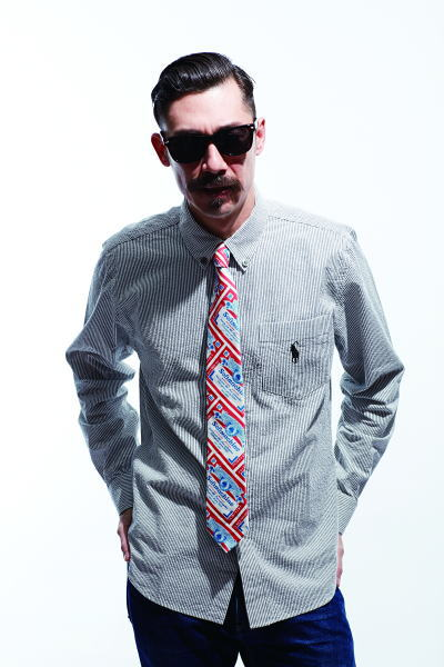 SOFTMACHINE DISHONOUR STRIPE NEW LIFE SLIM HANG OVER TIE HIDE GLASS