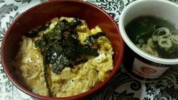 2017-08-06 玉丼 肉うどん
