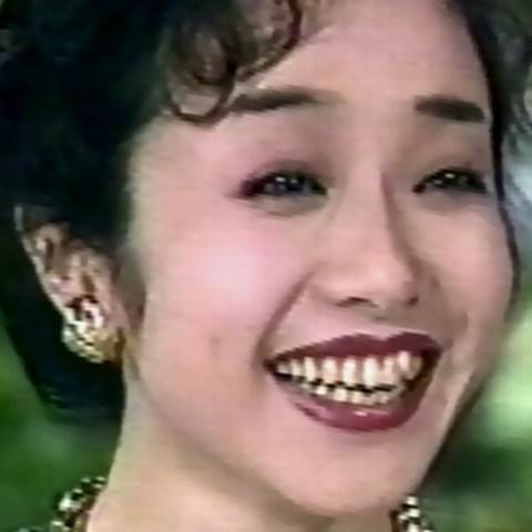 南美希子1994年(38歳)当時、目は相変わらず小さめの垂れ気味で、一重まぶたか、あるいは一重に見える奥二重だった。