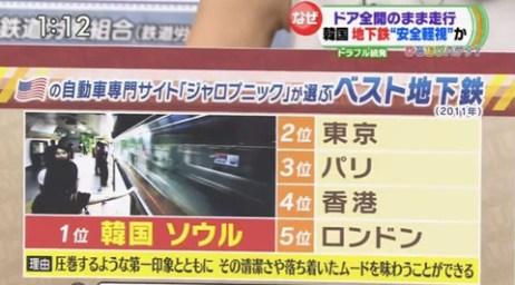 【ひるおび!】「韓国の地下鉄は世界トップクラス」に八代英輝弁護士が皮肉 ⇒ 恵俊彰が注意「そういうことは打ち合わせで・・・」