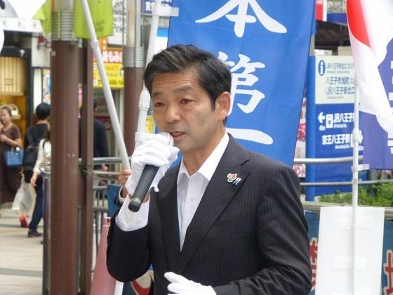 日本第一党 公認 岡村みきお氏 日増しにイケメンになっていくなぁ! #日本第一党 #岡村みきお