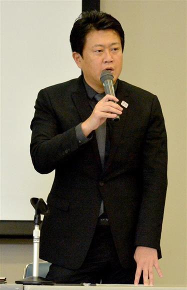 「都民ファーストの会」の野田数代表(伴龍二撮影)