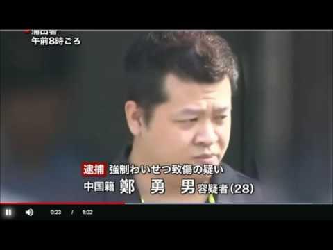 2017年ニュース「女性を追いかけ胸触り蹴りつける」中国人の男を逮捕する