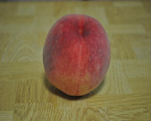 食べごろの桃の実