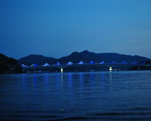 九島大橋ライトアップ