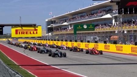 2018年F1第18戦のスタート
