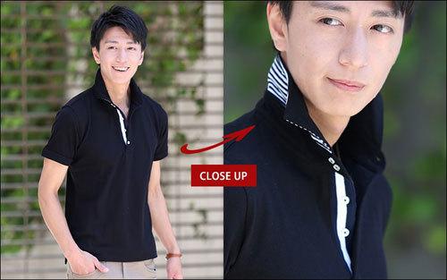 メンズ ホリゾンタルカラー ポロシャツ 2017 1