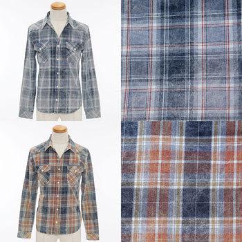 チェックシャツ 褪せ色 色落ち メンズ