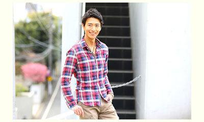 メンズ チェックシャツ 2017秋 コーディネート