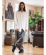 2017 秋冬メンズファッション ワイドパンツ コーディネート5