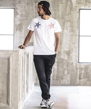 メンズ Tシャツ×パンツ コーディネート 参考1