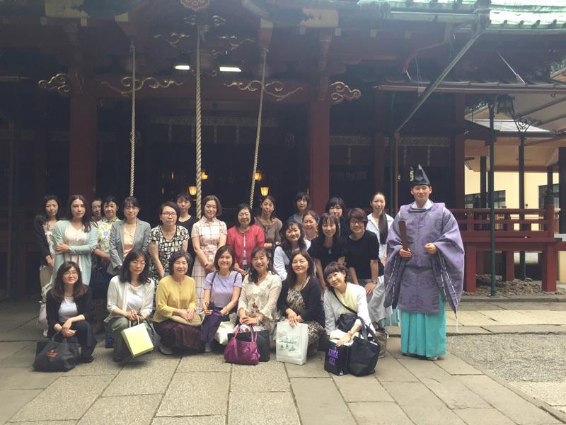 7/23 フローリーディング研究所 後半の祈祷祭 赤坂氷川神社