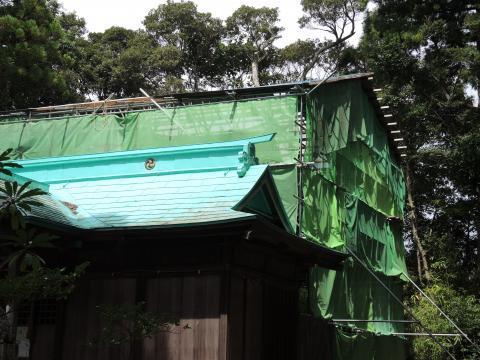 出羽神社屋根解体工事4
